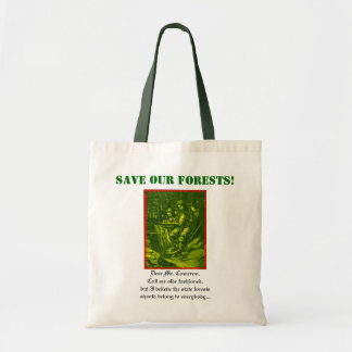 Save Our Forests! Tote Bag