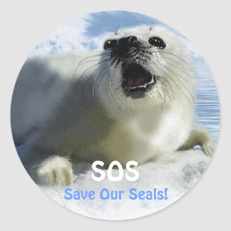 SAVE OUR HARP SEALS Design Stickers