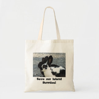 Save our Island Bunnies Tote Bag