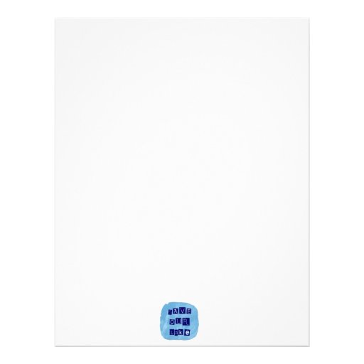 Save Our Lake in Blue Inverted Block letters Custom Letterhead