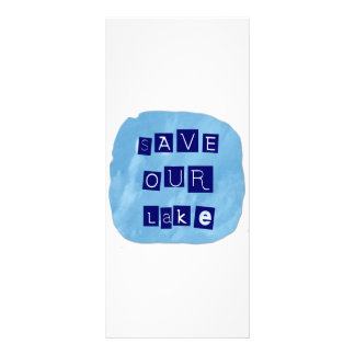 Save Our Lake in Blue Inverted Block letters Rack Card