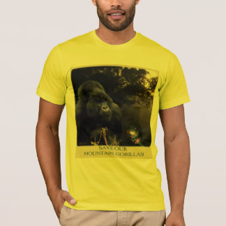 """Save our Mountain Gorillas"" Wildlife T-Shirt"