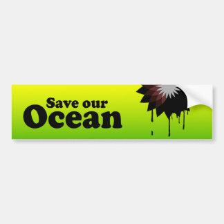 SAVE OUR OCEAN BUMPER STICKER
