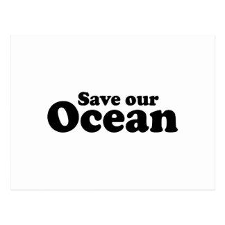 SAVE OUR OCEAN POSTCARD
