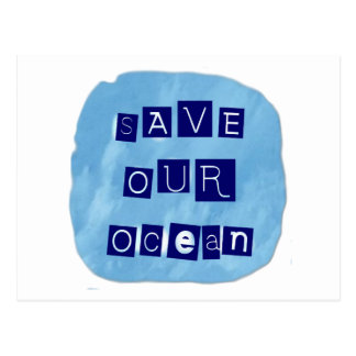 Save Our Ocean Watery Blue Background Post Cards