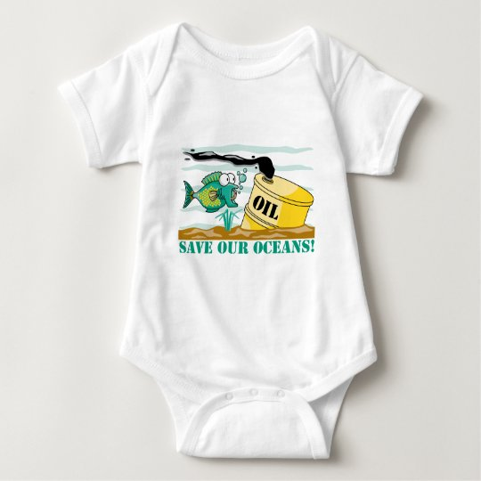 Save Our Oceans! Baby Bodysuit