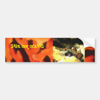 SAVE OUR OCEANS BUMPER STICKER
