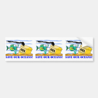 """""""Save Our Oceans""""  Bumper Sticker"""