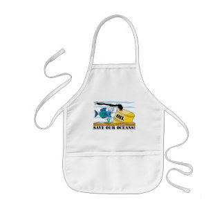 Save Our Oceans Earth Day Kids' Apron