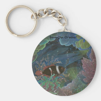 Save Our Oceans! keychain