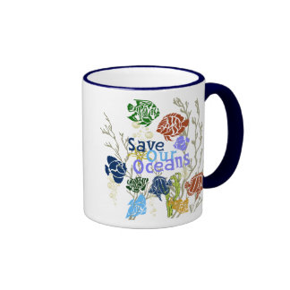 Save Our Oceans Nautical Coral Reef Coffee Cup Coffee Mugs