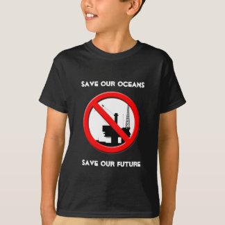Save Our Oceans Oil Spill Kids Black T-shirt
