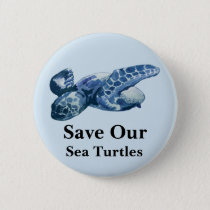 Save Our Oceans Sea Turtle Pin
