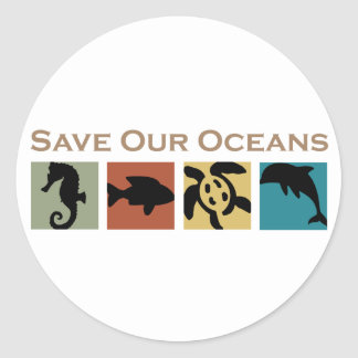 Save our Oceans Classic Round Sticker