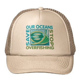 Save Our Oceans - Stop Overfishing Mesh Hat
