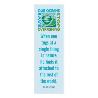Save Our Oceans - Stop Overfishing Mini Business Card