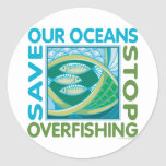 Save Our Oceans - Stop Overfishing Stickers