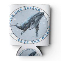 Save Our Oceans - Whale Design Can Cooler