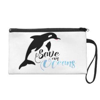 Save our Oceans Wristlet Purse