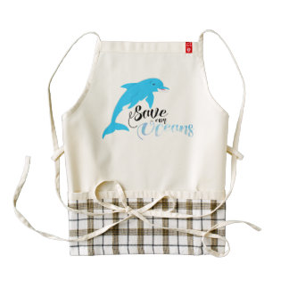 Save our Oceans Zazzle HEART Apron