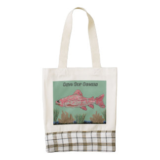 Save our Oceans Zazzle HEART Tote Bag