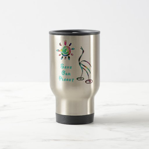 Save Our Planet 15 Oz Stainless Steel Travel Mug