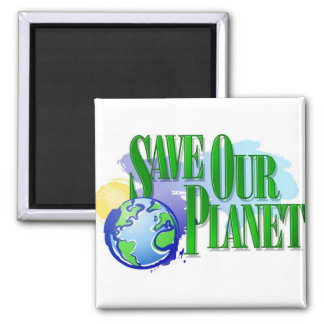 Save our Planet 2 Inch Square Magnet
