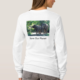 """Save Our Planet"" brand long sleeve T-shirt"