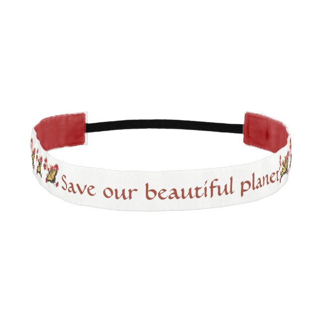 Save Our Planet Butterfly Flowers Headband