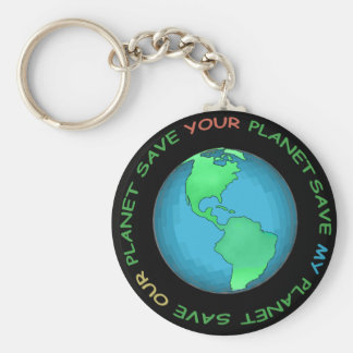 Save Our Planet Design Keychain