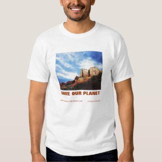 SAVE OUR PLANET EDUN LIVE Adam Organic Tee. T-shirt