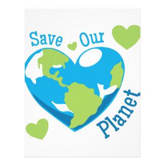 Save Our Planet Letterhead