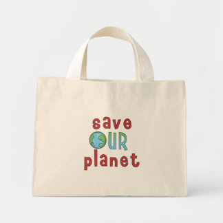Save Our Planet Mini Tote Bag