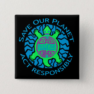 SAVE OUR PLANET PINBACK BUTTON