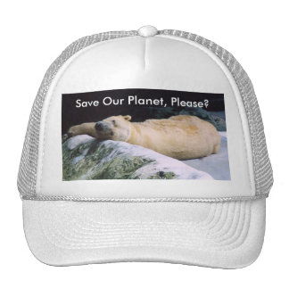 Save Our Planet Polar Bear cap Trucker Hat