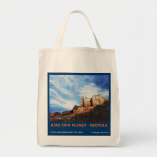 SAVE OUR PLANET - RECYCLE Grocery Tote Bag