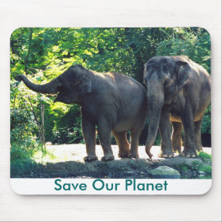 Save Our Planet series elephants mouse pad