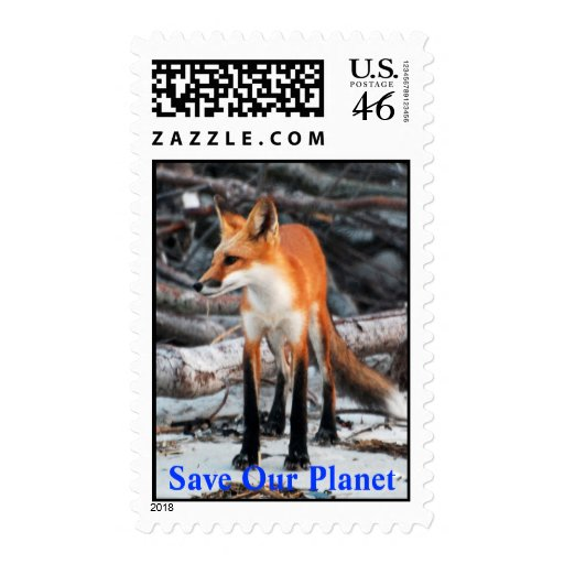 Save Our Planet series Red Fox postage stamp