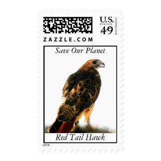 Save Our Planet series Red Tail Hawk postage stamp
