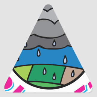 Save Our Planet Triangle Sticker
