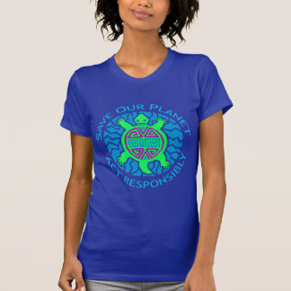 Save Our Planet Turtle Design T-shirt