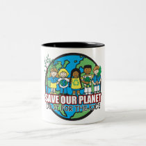 Save Our Planet Two-Tone Coffee Mug