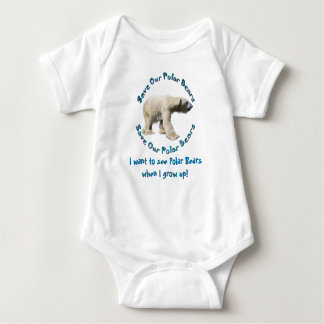 Save Our Polar Bears Baby wants to see Polar Bears Infant Creeper