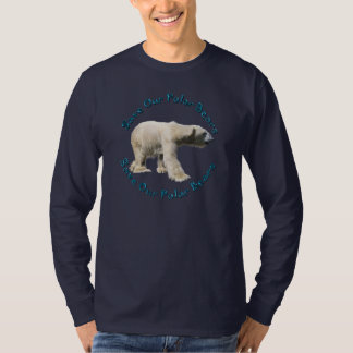 Save Our Polar Bears Wildlife Support Designer Tee