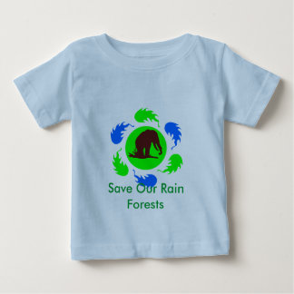 Save Our Rain Forests Elephants Baby T-Shirt