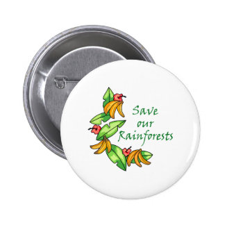 Save our Rainforests Pinback Button
