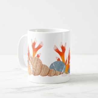 Save Our Reefs Colorful Conservation Art Mug