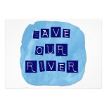 Save our River Blue text on blue background Invitation