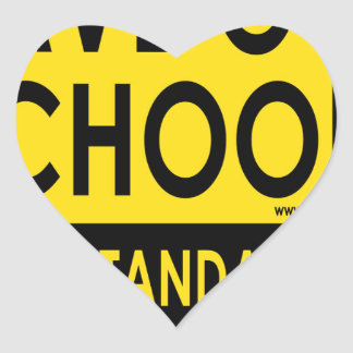 Save Our Schools Heart Sticker