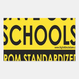 Save Our Schools Rectangular Sticker